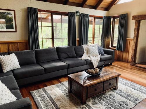 A seating area at William Bay Cottages