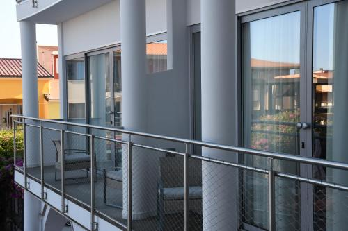 A balcony or terrace at Orrì Hotel