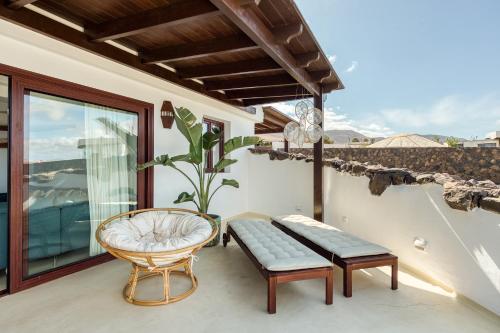 Balcon ou terrasse dans l'établissement Villa Taguluche Famara