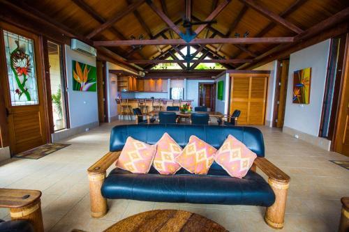 A seating area at Koro Sun Resort & Rainforest Spa