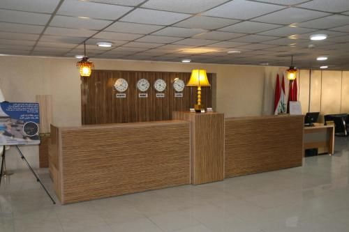 The lobby or reception area at Baghdad Intl. Airport Hotel