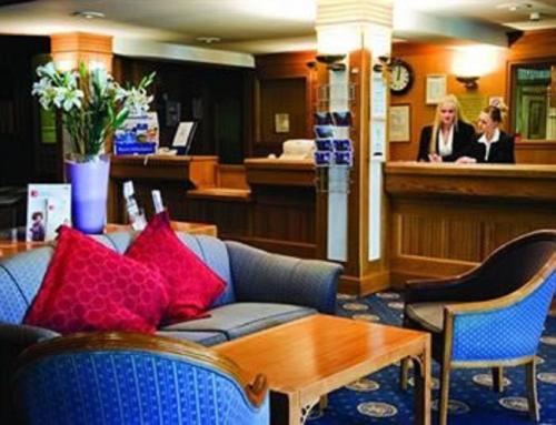 The lobby or reception area at Carrington House Hotel