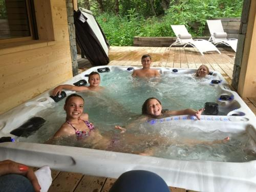The swimming pool at or near Chalet Caméline