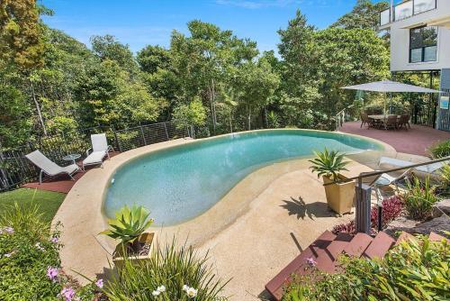 The swimming pool at or near Ocean Break Coolum