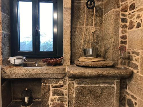 A bathroom at Casa Rural Liñeiros