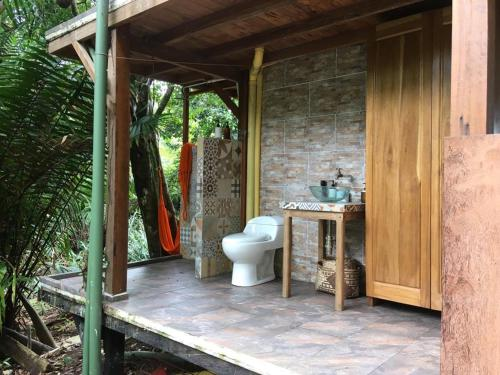 A bathroom at Punta Brava