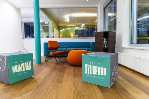 Lobby/Rezeption in der Unterkunft Hotel Xylophon inklusive Thermeneintritt