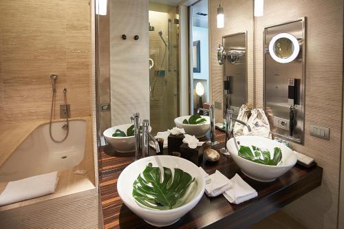 A bathroom at Sina The Gray