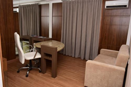 A seating area at Hotel Vilhar