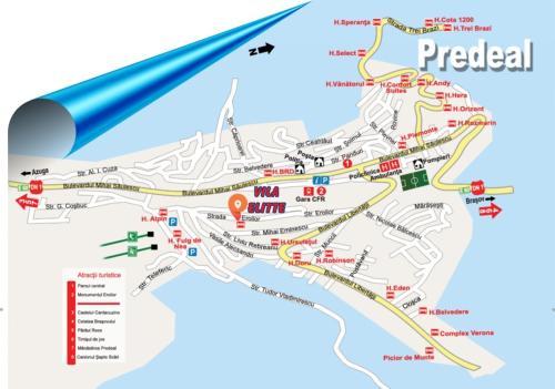 A bird's-eye view of Vila Elitte Predeal