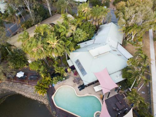 A bird's-eye view of Colonial Village Resort