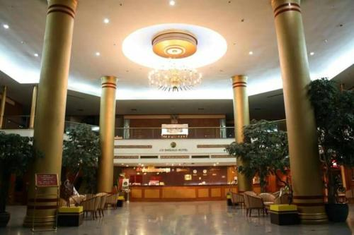 The lobby or reception area at JP Emerald Hotel