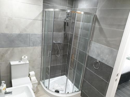 A bathroom at The Picture House Apartments