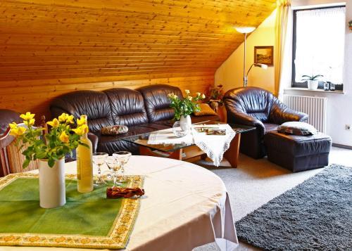 A seating area at Ferienwohnungen Annegret Schütte