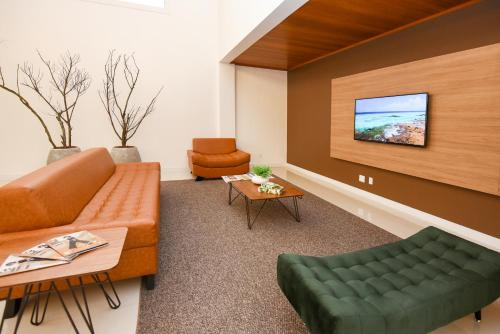 A seating area at Hotel Alles Berg
