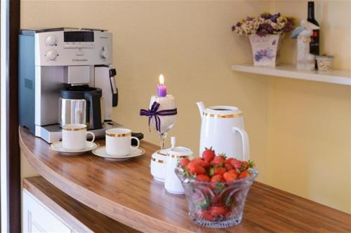 Coffee and tea making facilities at Villa Gorica a luxury villa in Dubrovnik