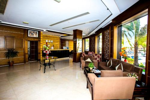The lobby or reception area at Yafko Hotel