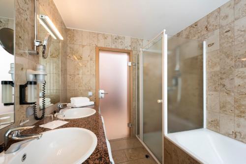 Ein Badezimmer in der Unterkunft Michels Apart Hotel Berlin