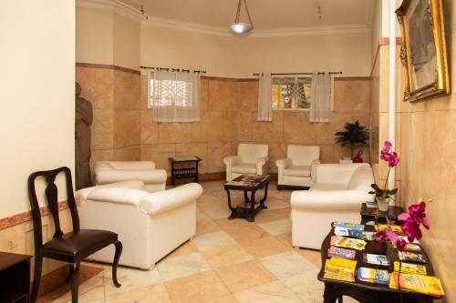 O saguão ou recepção de Hotel Carioca