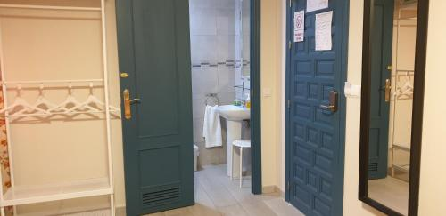 A bathroom at Pension Catedral