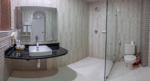 A bathroom at Kathmandu Guest House by KGH Group