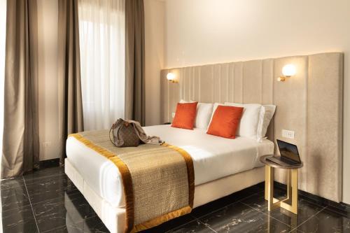 Een bed of bedden in een kamer bij Villa Zaccardi