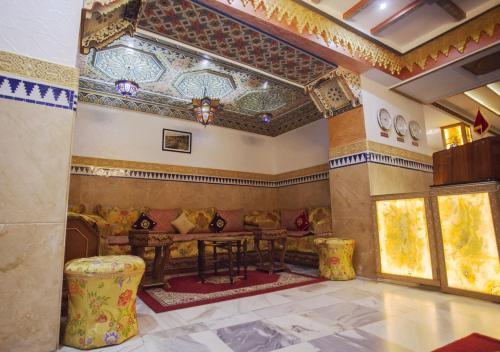 The lobby or reception area at Hotel Mamora Tanger