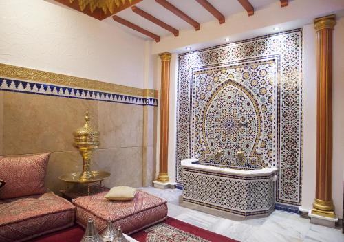 A bathroom at Hotel Mamora Tanger