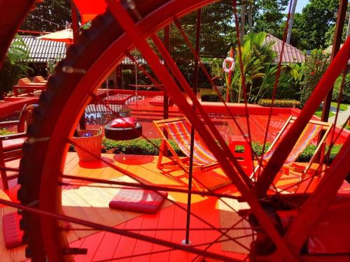 Children's play area at Harley Moon Hideaway