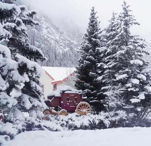 Hot Springs Inn during the winter