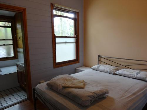 A bed or beds in a room at Port Macquarie Backpackers