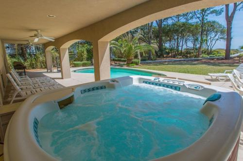The swimming pool at or near All-Suite Oceanfront Oasis with Pool & Hot Tub home