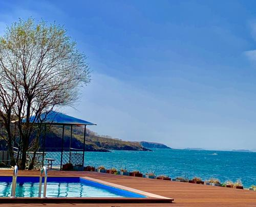 The swimming pool at or near Hotel-Club Zvezda