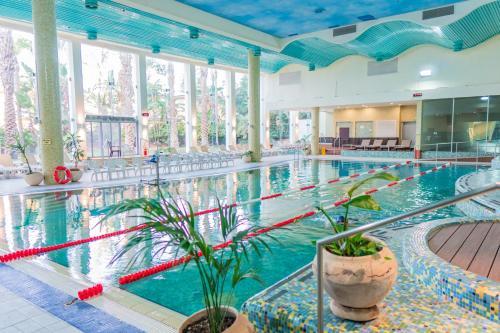 בריכת השחייה שנמצאת ב-מלון רמדה חדרה או באזור