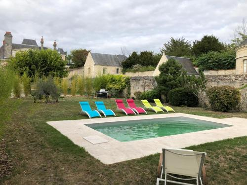The swimming pool at or near Domaine Plessis Gallu