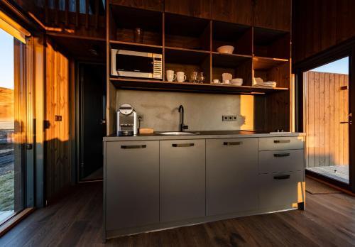 Cuisine ou kitchenette dans l'établissement Seljalandsfoss Horizons