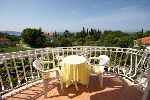 A balcony or terrace at Apartments & rooms Nikola1 - parking