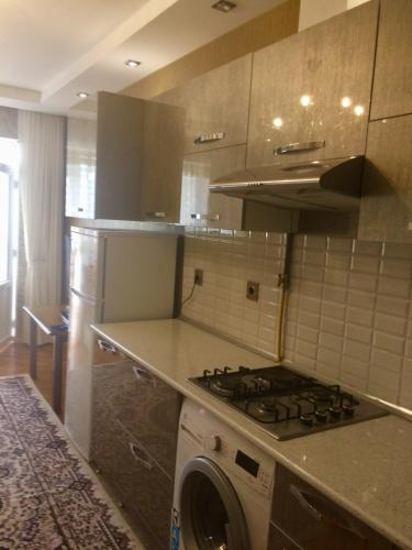 A cozinha ou cozinha compacta de Host-room for family