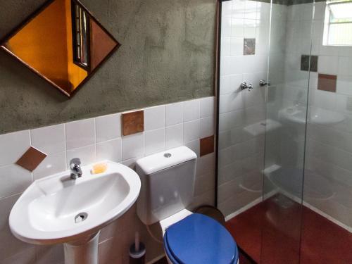 Um banheiro em Lagamar Ecohotel