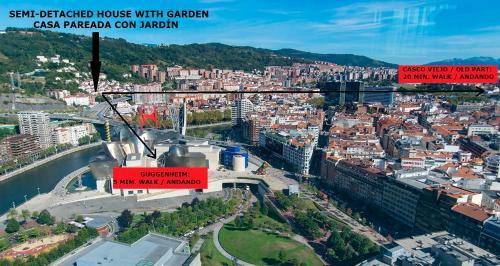 A bird's-eye view of Estudio a 5 min Guggenheim