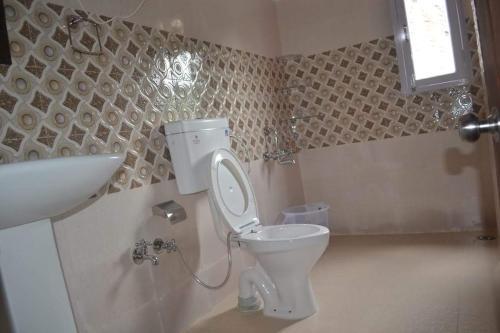 A bathroom at Hotel De Crown