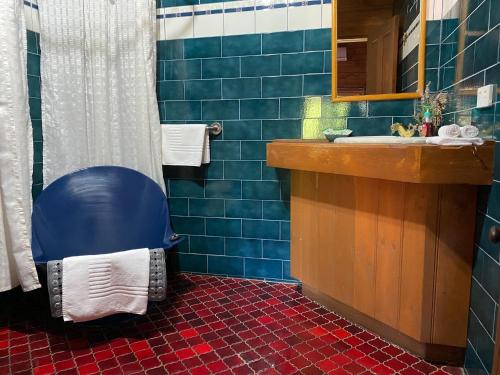 A bathroom at The Old Priory