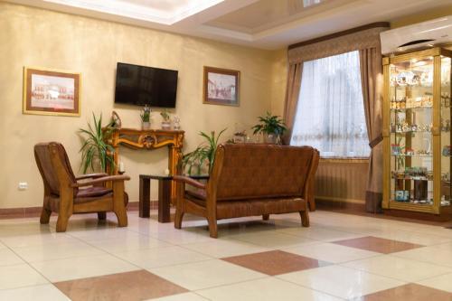 Гостиная зона в Транзит Отель