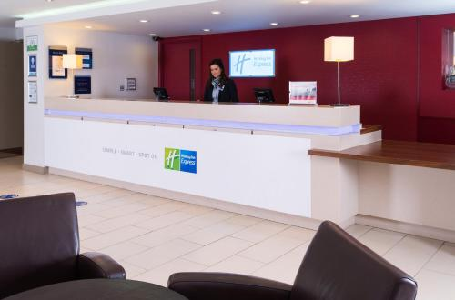 The lobby or reception area at Holiday Inn Express Taunton, an IHG Hotel