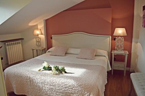 Cama o camas de una habitación en Hotel Rural La Vida de Antes