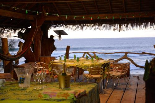 A restaurant or other place to eat at Vaitumu Village