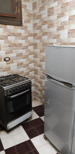 A kitchen or kitchenette at Aswan Cozy Apartment