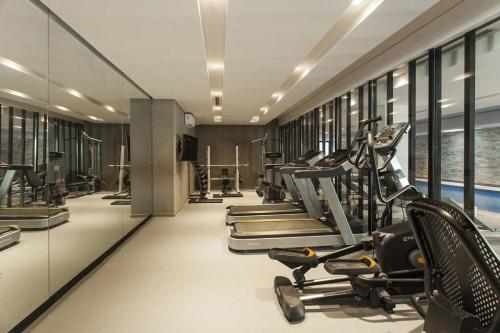 The fitness center and/or fitness facilities at B TWINS - Vacaciones Soñadas a metros del Mar