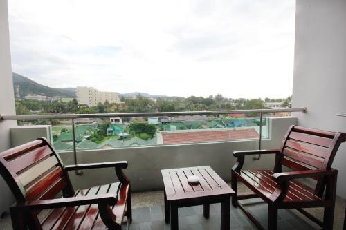A balcony or terrace at Simplitel
