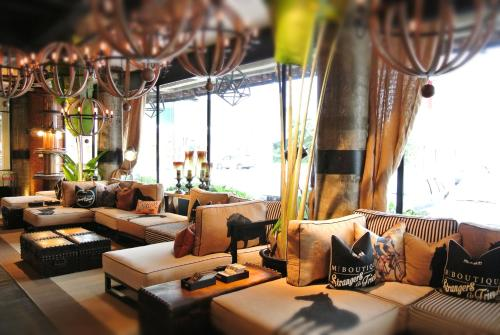 A seating area at M Boutique Hotel